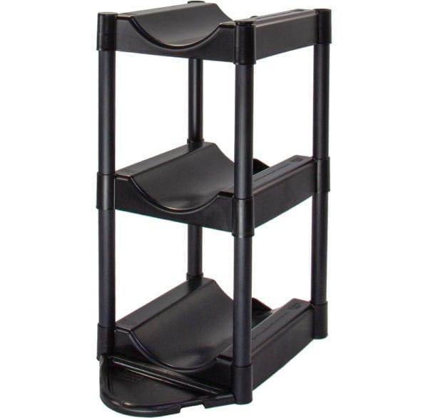 The black 3 tray storage system.